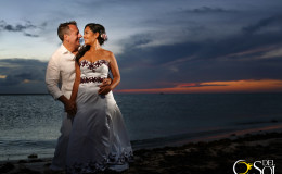 Laura and Ken wedding at Isla De la Pasion, Cozumel, Mexico.